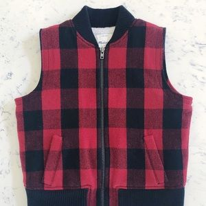 Women's Madewell buffalo check vest